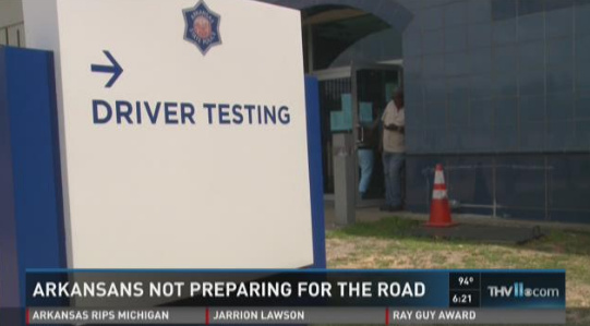 Video: Arkansans Struggle with Written Portion of Driving Test